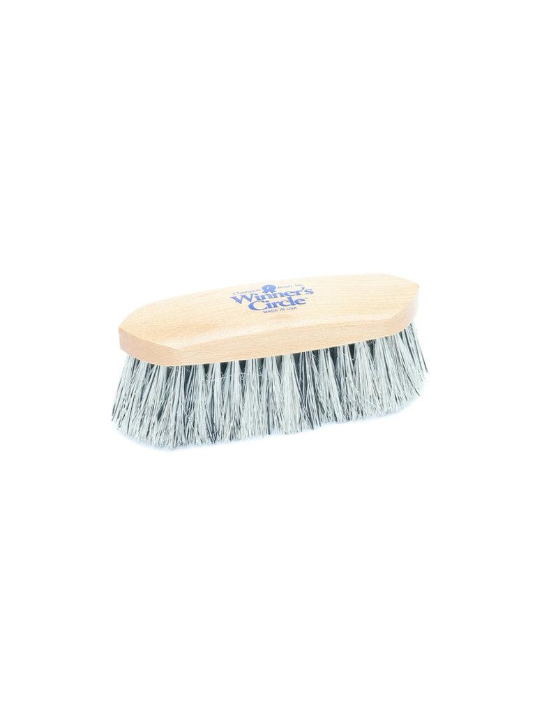 """Hill Brush 7 1/2"""" Grey English Fiber Champion Dandy Brush"""