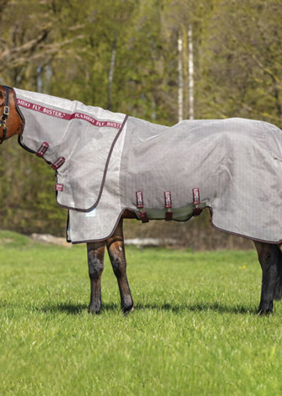 Horseware Ireland Rambo Flybuster Vamoose Oatmeal/Black Fly Rugs