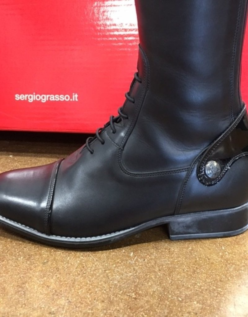 Sergio Grasso Sergio Grasso Custom Michel Robert Lione Field Boots with Patent Top 38 N