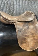 "Consignment Saddle #255 Sattlerei Buffalo Leather 17.5"""