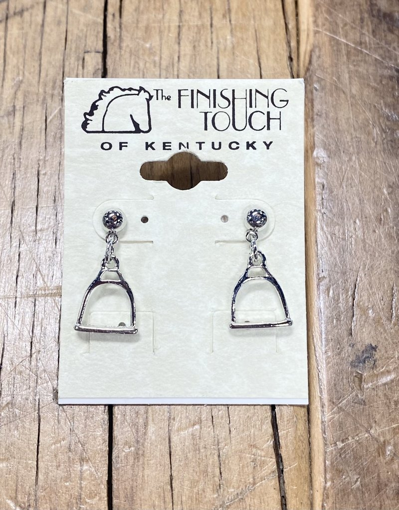 The Finishing Touch Of Kentucky Silver Stirrup Drop Earrings