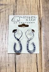 The Finishing Touch Of Kentucky Silver Dangling Horseshoe Earrings