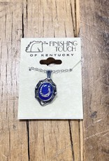 The Finishing Touch Of Kentucky Blue Onyx with Horseshoe Necklace