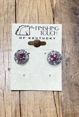 The Finishing Touch Of Kentucky Pink Crystal Earrings