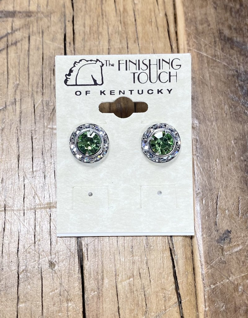 The Finishing Touch Of Kentucky Green Crystal Earrings