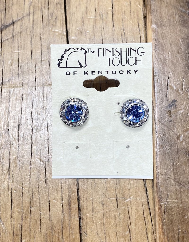 The Finishing Touch Of Kentucky Light Sapphire Crystal Earrings