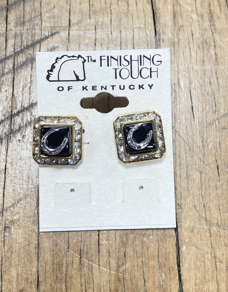 The Finishing Touch Of Kentucky Black Onyx With Crystals Earrings