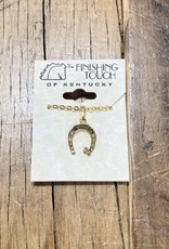 The Finishing Touch Of Kentucky Gold Horseshoe with Crystal Necklace