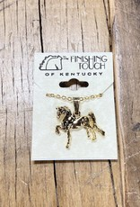 The Finishing Touch Of Kentucky Gold Saddlebred Necklace