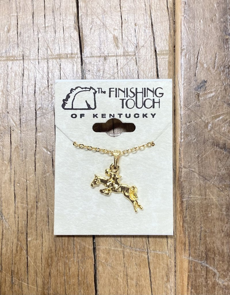 The Finishing Touch Of Kentucky Gold Hunter Neckalce