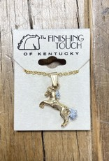 The Finishing Touch Of Kentucky Rearing Gold and Silver Necklace