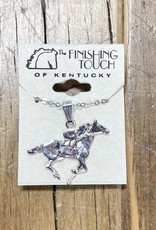 The Finishing Touch Of Kentucky Silver Thoroughbred Necklace