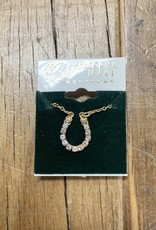 The Finishing Touch Of Kentucky Gold Horseshoe with Rhinestones Necklace