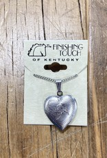 The Finishing Touch Of Kentucky Arabian Head Heart Shaped Locket