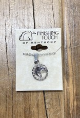 The Finishing Touch Of Kentucky Silver Horse Head in Rope Necklace