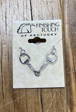 The Finishing Touch Of Kentucky Rhinestone Snaffle Bit Necklace