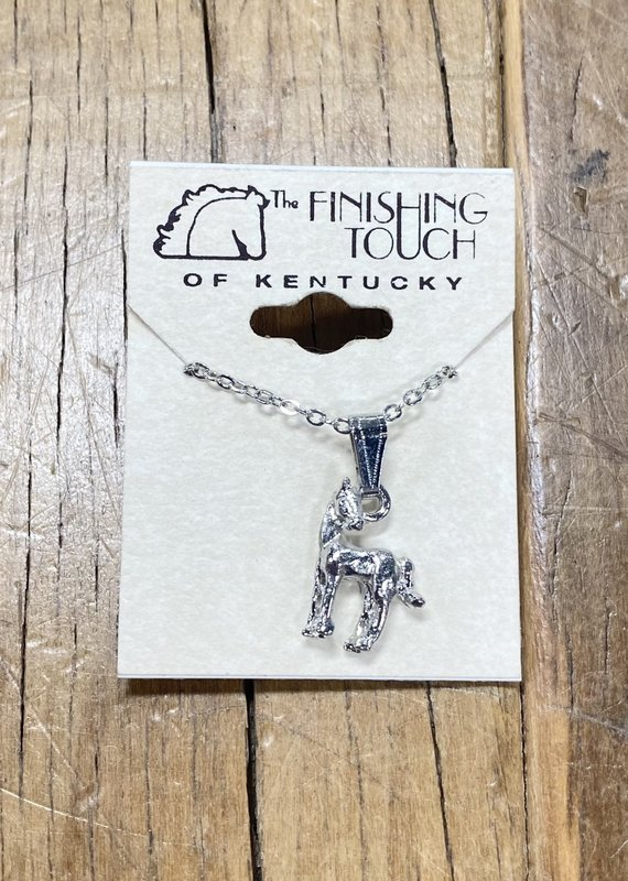 The Finishing Touch Of Kentucky Silver Foal with Turned Neck Necklace