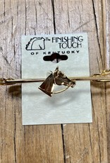 The Finishing Touch Of Kentucky Gold Horse Head Large Stock Pin