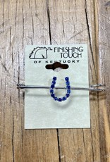 The Finishing Touch Of Kentucky Blue Rhinestone Horse Shoe and Silver Medium  Stock Pin