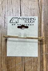 """The Finishing Touch Of Kentucky 2"""" Stock Pin Gold"""