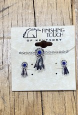 The Finishing Touch Of Kentucky Blue Ribbon and Silver Gift Set