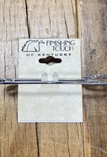 """The Finishing Touch Of Kentucky 2.5"""" Silver Stock Pin"""