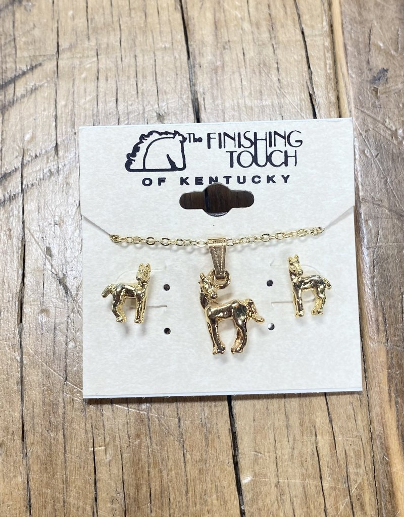 The Finishing Touch Of Kentucky Gold Foal with Head Turned Gift Set