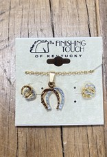The Finishing Touch Of Kentucky Gold and Silver Horse Shoe Gift Set