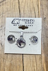 The Finishing Touch Of Kentucky Silver Horse Head and Rope Gift Set