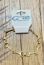 The Finishing Touch Of Kentucky Fine Gold Snaffle Bit Bracelet