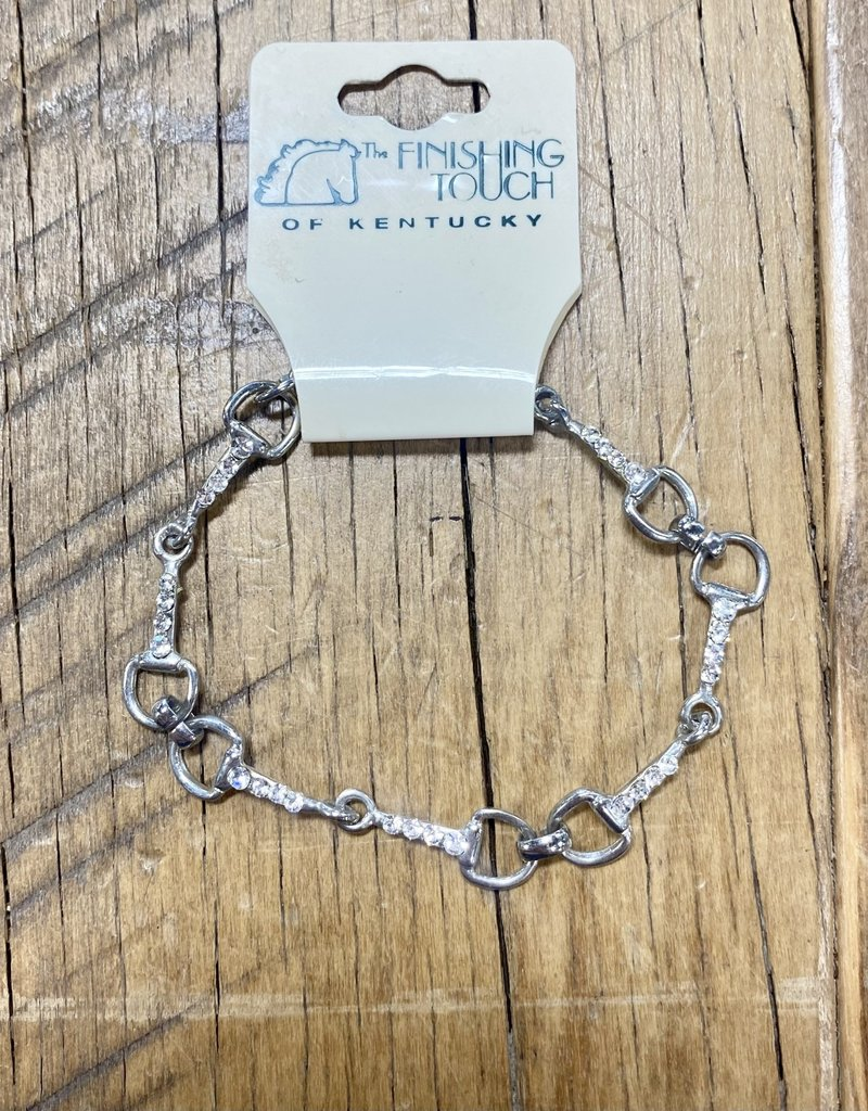 The Finishing Touch Of Kentucky Mini Snaffle Bit and Rhinestone Bracelet