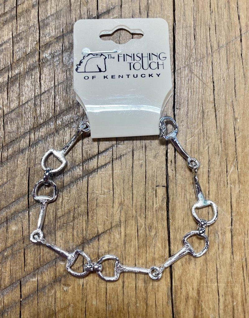 The Finishing Touch Of Kentucky Mini Silver Snaffle Bit Bracelet