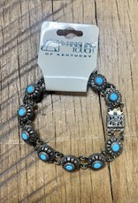 The Finishing Touch Of Kentucky Silver and Turquoise Stone Bracelet