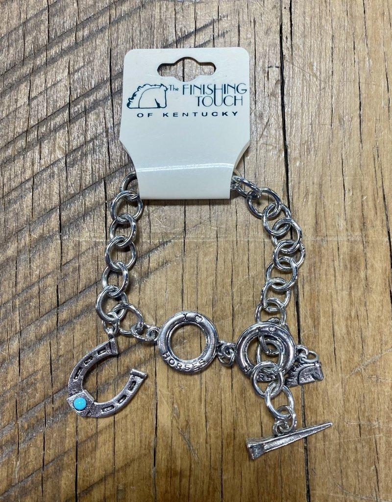 The Finishing Touch Of Kentucky I Love Horses Silver Bracelet