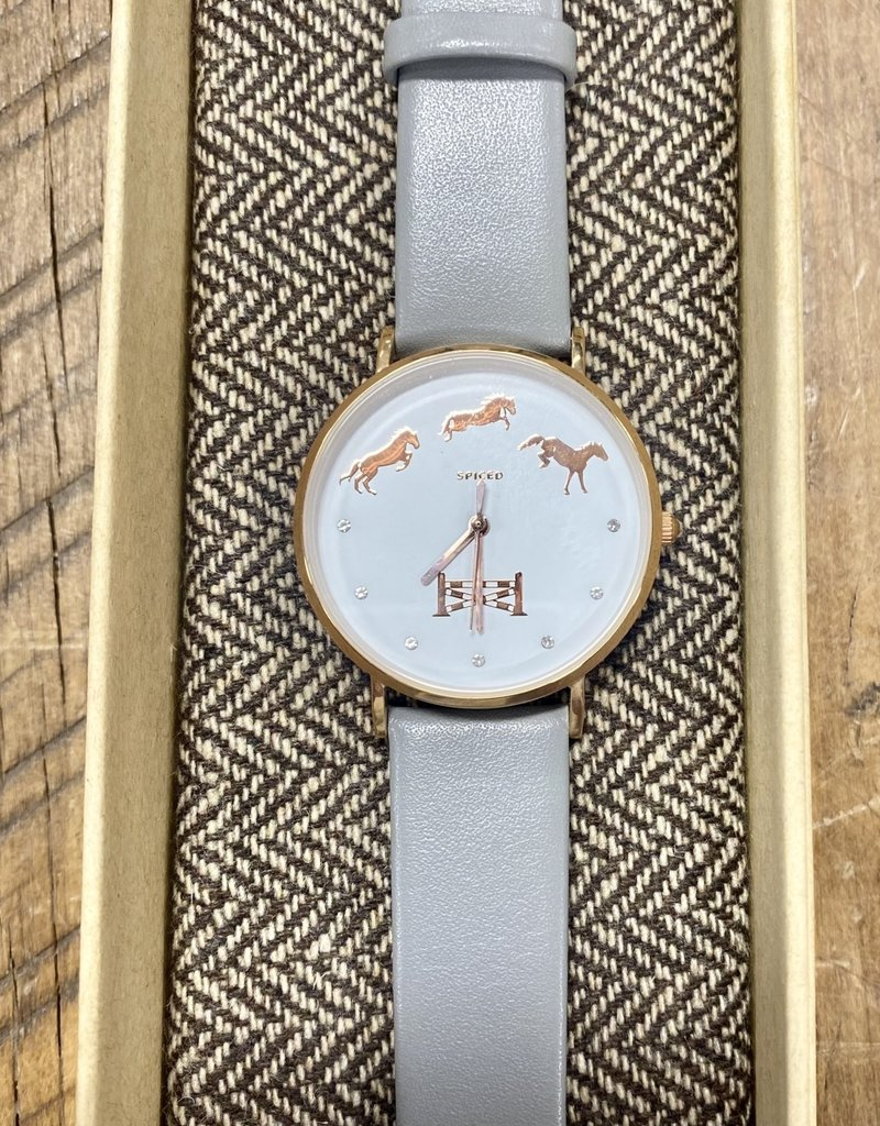 Spiced Equestrian Spiced Equestrian Sterling/Rose Gold Bascule Wrist Watch