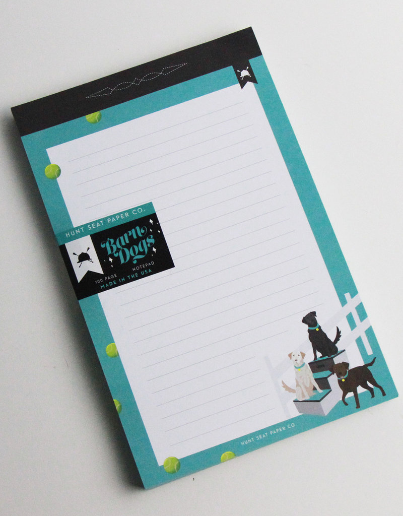 Hunt Seat Paper Co. Barn Dogs 100 Page Notebook