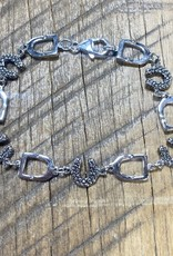 Stirrup and Rock Horse Shoe Bracelet