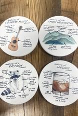 Dishique Tennesee Anatomy Coaster Set