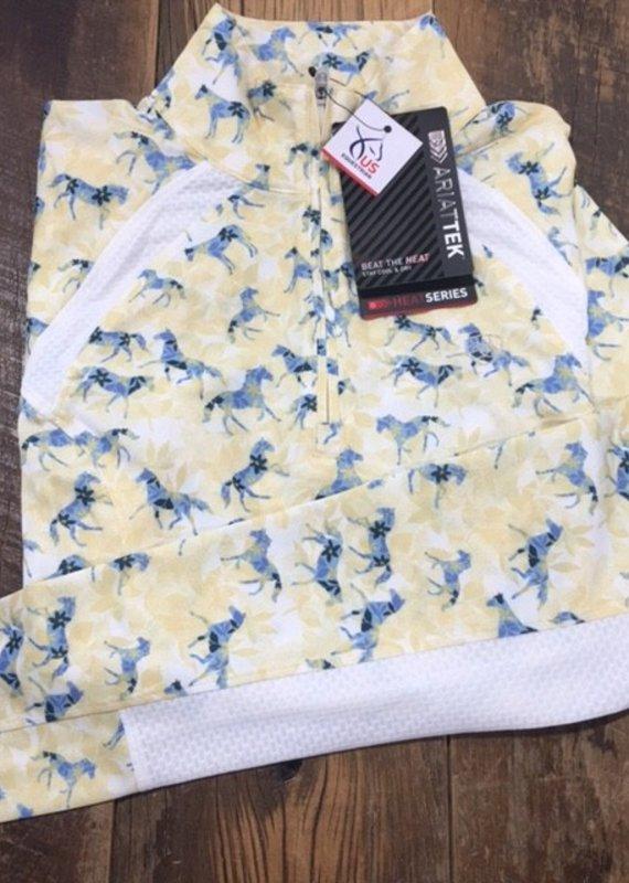 Ariat Ariat Women's Sunstopper 2.0 1/4 Zip Long Sleeve Petals and Ponies