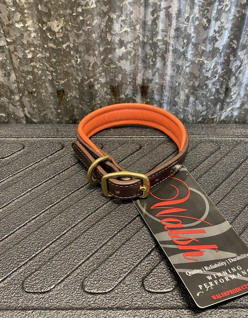 Walsh Signature Dog Collar Orange Small
