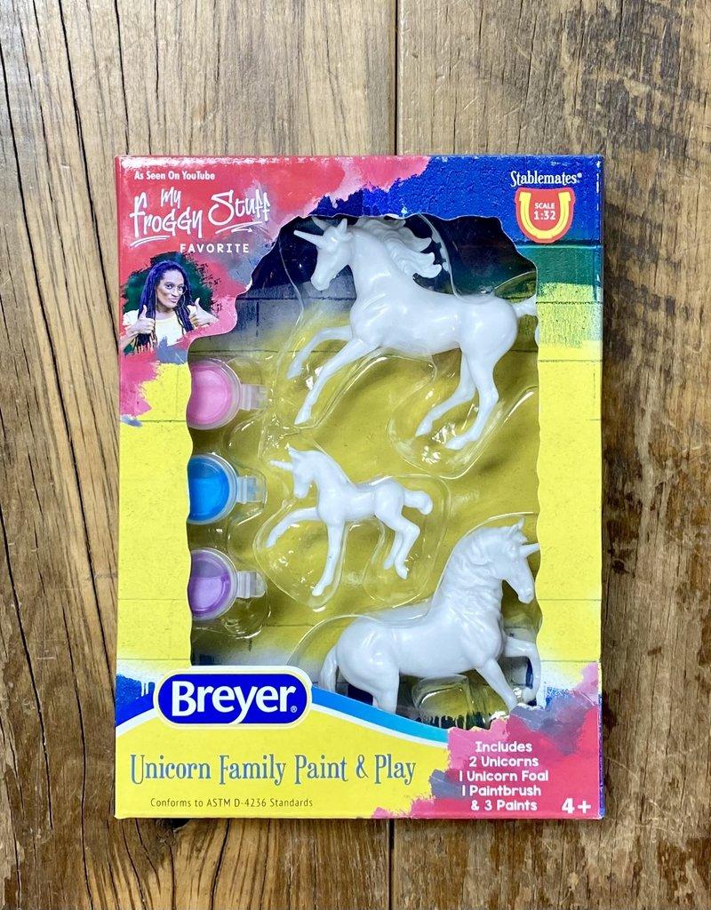 Breyer Breyer Unicorn Family Paint and Play