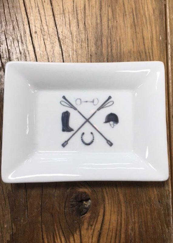 Faire Equestrian Crest Mini Dish
