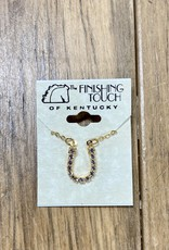 The Finishing Touch Of Kentucky Gold Horseshoe with Crystals Necklace