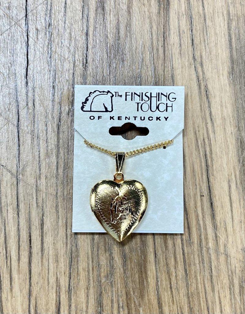 The Finishing Touch Of Kentucky Gold Arabian Heart Locket