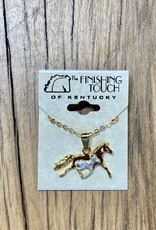 The Finishing Touch Of Kentucky Mare and Foal Two-Tone Necklace