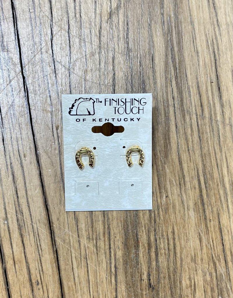The Finishing Touch Of Kentucky Dainty Gold Horseshoe Earrings