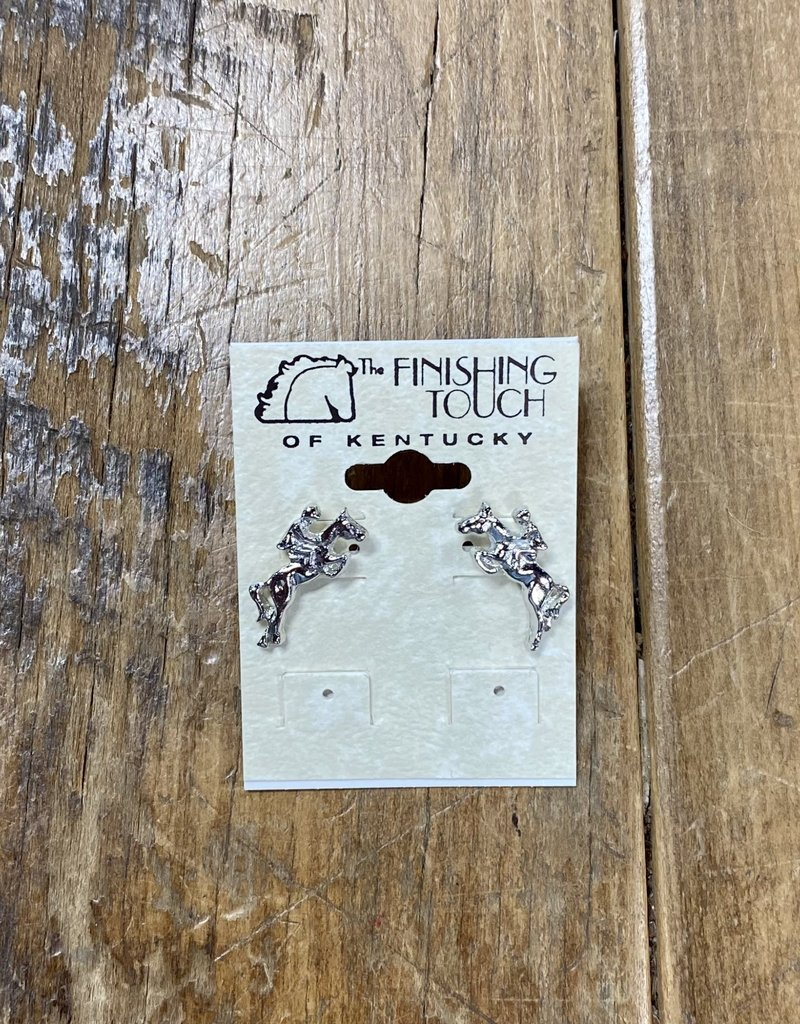 Jumping Horses Silver Earrings