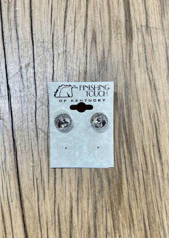 The Finishing Touch Of Kentucky Horse Head in Rope Earrings Silver