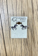 The Finishing Touch Of Kentucky Silver Running Horses Earrings