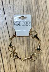 The Finishing Touch Of Kentucky Medium Snaffle Bit Bracelet Gold